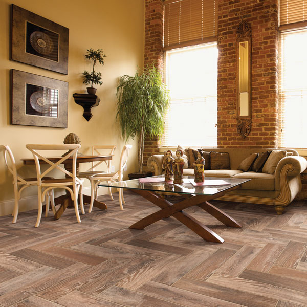Image of room with wood planks for flooring