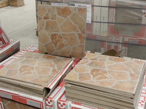It 39 s patio season pebbles tile and edgers are what 39 s hot for Floor and decor porcelain tile