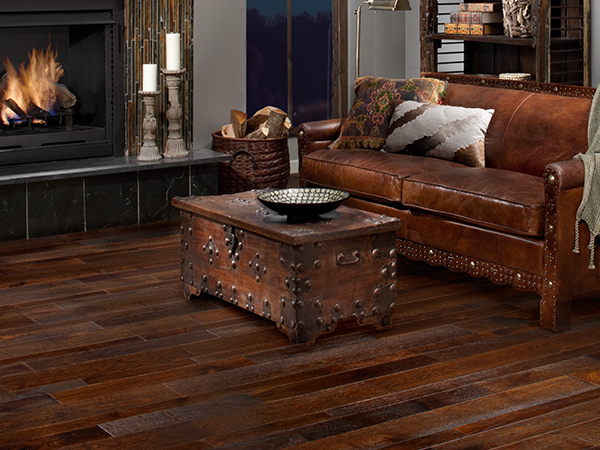 Living room with Timberclick flooring