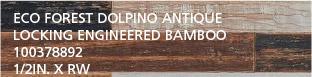 Eco Forest Dolpino Antique Locking Engineered Bamboo