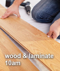 Wood and Laminate at 10am