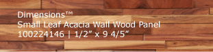 Dimensions™ Small Leaf Acacia Wall Wood Panel
