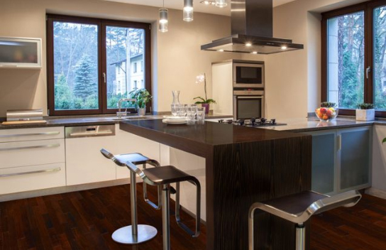 Image of contemporary looking kitchen