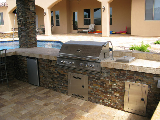 beef up your barbecue with an outdoor ledger | floor & decor