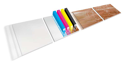 Illustration of Inkjet tiles
