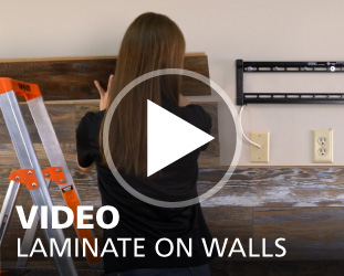 How to Install Laminate on Walls Video