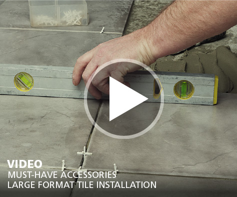 Large Format Tile Installation Video